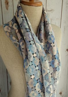 """Half"" large linen scarf"