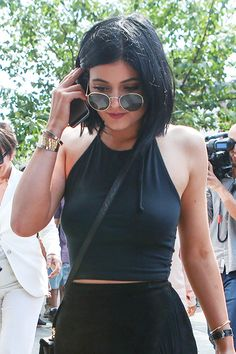 2014's Best Celeb Hair-Color Makeovers #refinery29  http://www.refinery29.com/best-celebrity-hair-color#slide4  Kylie Jenner After But, we've got to say, we're big fans of the all-black everything she's got going on here. She looks so much more sophisticated and chic without the dip-dyed ends. Her current shade looks a bit more blue-black than her natural hair color, which makes it super flattering.