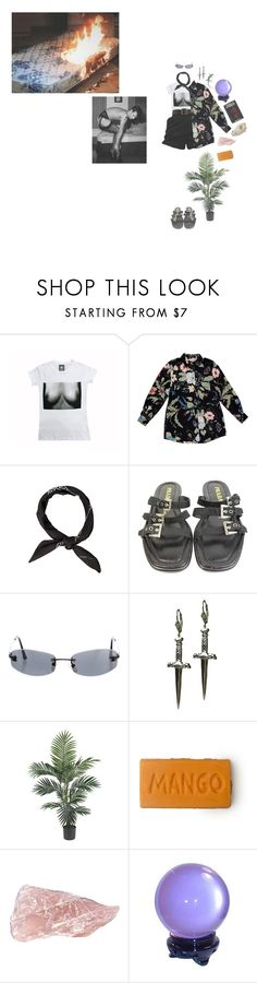"""""""up in flames"""" by ghostkid ❤ liked on Polyvore featuring Gucci, Prada, Chanel and Tina Tang"""
