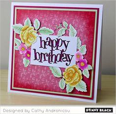 Penny Black stansmallen 51-431 Your Day | 51-428 Floral Arrangement