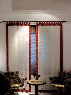 Preserve privacy by covering tall windows with vertical vinyl blinds. Tab Top Curtains, Drapes Curtains, Curtain Panels, Vinyl Window Trim, Vinyl Blinds, Interior Window Shutters, Budget Blinds, Luxury Vinyl Plank, Custom Curtains
