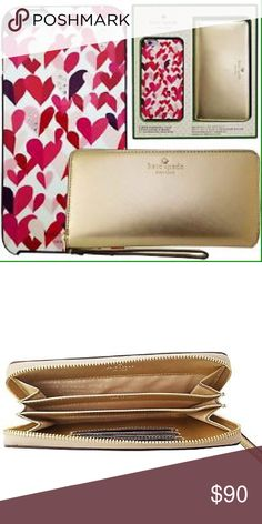 "COMING SOON! Kate Spade 6/6S Case & Wristlet Set! Kate Spade iPhone 6/6S PLUS 5.5"" Hearts Case & Saffiano Wristlet Gift Set!!! Only 2 will be in stock. kate spade Accessories Phone Cases"