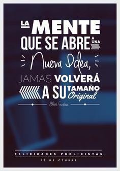 Felicidades a todos los publicistas salvadoreños, un poster dedicados a todos los creativos!