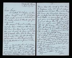 Patsy Cline handwriting