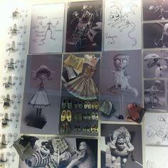 vestuarios y bocetos