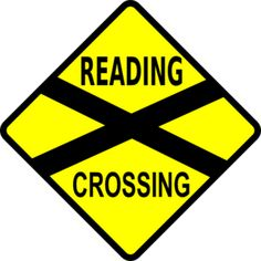 Caution Railroad Crossing clip art Free vector in Open office drawing .