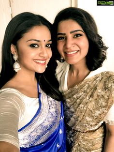 If Smiles could kill, Samantha Ruth Prabhu and Keerthy Suresh paint a pretty picture. Keerthy Suresh and Samantha Ruth Prabhu are making us eager for Mahanati's release South Actress, South Indian Actress, Beautiful Indian Actress, Beautiful Actresses, Beautiful Women, Samantha In Saree, Samantha Ruth, Indian Film Actress, Indian Actresses
