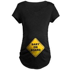 BABY ON BOARD Maternity Dark T-Shirt for
