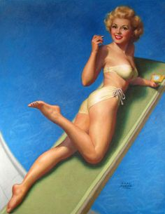 Marilyn Monroe posed for this Earl Moran illustration c. 1948