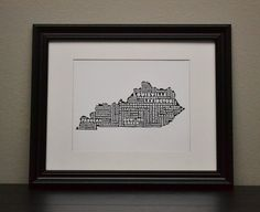 KENTUCKY Cities Collage State Print Customize OR by bandaprints, $12.50