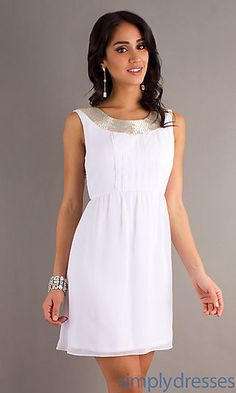 Short Sleeveless Scoop Neck Dress at SimplyDresses.com