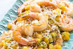 Sautéed shrimp topped with a mango pineapple kiwi salsa and toasted coconut flakes. 1 pot and takes only 25 minutes to make! Kiwi, Sauteed Shrimp Recipe, Easy Lettuce Wraps, Whole Food Recipes, Cooking Recipes, Seafood Recipes, Chicken Curry Salad, Mango Recipes, Fruit Salsa