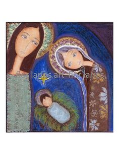 Holy Night    Print from  Painting by FLOR LARIOS 7 by FlorLarios
