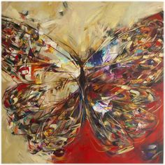 """Saatchi Art is pleased to offer the painting, """" Seeing Red -SOLD,"""" by Victoria Horkan. Original Painting: Oil on Canvas. Size is 0 H x 0 W x 0 in. Butterfly Art, Butterflies, Selling Art, Illustrations, Oeuvre D'art, Love Art, Painting Inspiration, Amazing Art, Saatchi Art"""