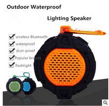 2016 Настоящее Продажа Fm Водонепроницаемый Открытый Bluetooth Led-Спикер Мини Портативный Езда Пыли Выдерживает Падения с Высоты Связаны Для Аудио Колонки(China (Mainland))