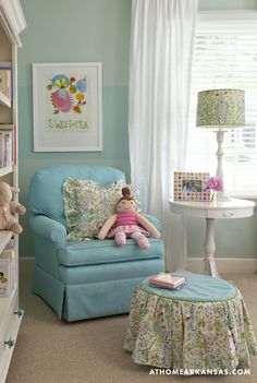 House of Turquoise: Palladian Blue nursery