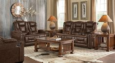 Eric Church Highway To Home Chief Brown Power Recliner