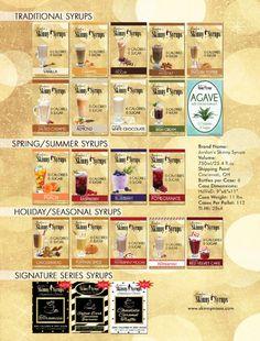 Skinny syrups Syrup Recipes, Drink Mixer, Cocktail Mix, Milkshake Recipes, Cocktails, Drinks, Pina Colada, Coffee Recipes, Keto