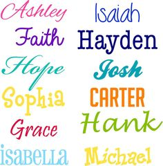 Personalized Name Decal, Custom Name Decal, Boy or Girl, you pick the font and color    Add the finishing touch to your little boy or girls room, or