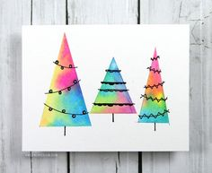 17 Best images about Cards - Watercolor Christmas on ...