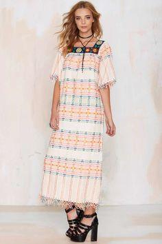 Vintage Celia Embroidered Dress - Dresses