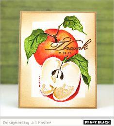 Penny Black stempel 40-619 Apples uit de Nature's Art collectie