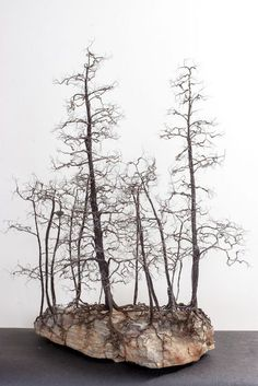 These are amazing wire sculptures by Kevin Champeny! Imagine how much copper wire that took.