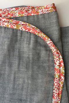 Liberty of London + Indigo Double Gauze Swaddle Blanket