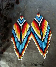 about Native american style Beadwork native american beaded earrings Native american style Beadwork native american beaded earrings Jewelry Watches Fashion Jewelry Earr. Beaded Earrings Native, Beaded Earrings Patterns, Native Beadwork, Native American Beadwork, Seed Bead Earrings, Beading Patterns, Hoop Earrings, Fringe Earrings, Native American Earrings