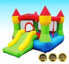NEW Bounceland Castle with basketball hoop Inflatable Bounce House FREE SHIPPING in Toys & Hobbies, Outdoor Toys & Structures, Inflatable Bouncers | eBay