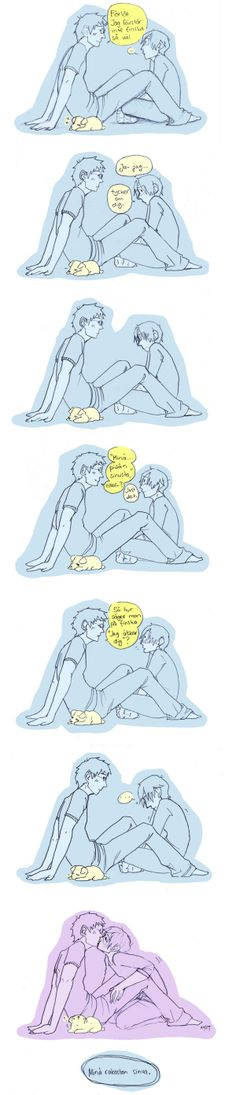 "APH - Finnish lesson by skitsoneito.deviantart.com on @deviantART  S: ""I'm sorry. I don't understand Finnish that well.""  F: ""I-I like you.""  S: ""'I like you,' or-?"" F: ""That's right.""  S: ""So how do you say in Finnish 'I love you'?""  F: ""I love you."""