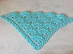 Châle éventail crochet facile / Chale albanicos facil a crochet - YouTube