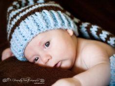 Crochet Newborn Baby Elf  Hat  Photo Prop by CynsationalTreasure
