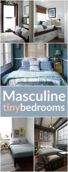 Kerry Angelos | Living Large in Small Spaces: Tiny Masculine Bedrooms | http://kerryrangelos.com