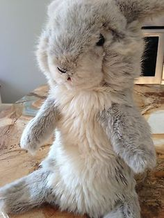 Vintage Jolly Hase Steiff Rabbit Hand Puppet (1973). I haven't seen this in years. My parents bought me this Steiff puppet on a trip to Walt Disney World. I'm guessing either at Tinker Bells Toy Shop or Lake Buena Vista... ah memories.