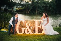 Personalised Initial Lights for Wedding