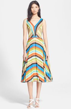 Tracy+Reese+Stripe+Silk+Georgette+Fit+&+Flare+Dress+available+at+#Nordstrom