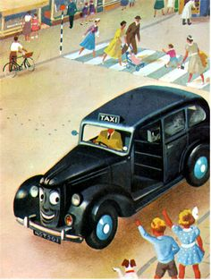my vintage book collection (in blog form).: Tootles the Taxi and Other Cars and Trucks - illustrated by John Kenney