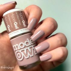 Midsummer Mauve modelsown nails Manicure makeup nude nails