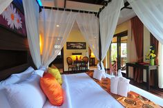love this exotic thai style for bedroom