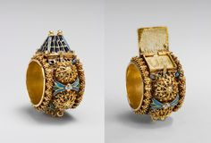 Jewish betrothal ring, made in Eastern Europe or Italy in the 17th or 19th century