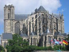 Le Mans Cathedral, France.