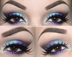This eye design goes beautifully with brown eyes-it brings out the colour.