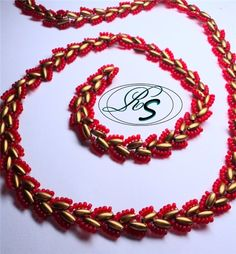 Variant of Russian Snake stitch picture tute. #Seed #Bead #Tutorial