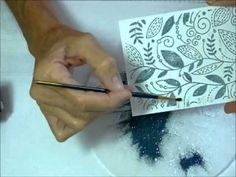 Double embossing. Two different methods for wet embossing after dry embossing.