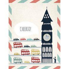Oopsy Daisy - Cheerio! Canvas Wall Art 18x24, Rachel Mosley