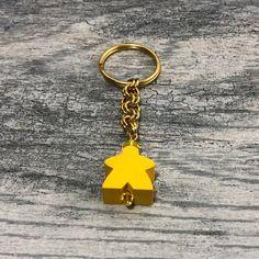 Meeple Key Ring Carcassonne Piece Gamer Tabletop Boardgame Geek Keychain Chain