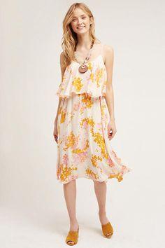 49dc5de12183 NWT Anthropologie Paper Crown Magnolia Midi Dress, L, Orig. $198 #dress #