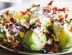 Fully Loaded Wedge Salad (The View from Great Island) Steak Fajitas, Wedge Salad Recipes, Fruit Recipes, Paleo Fruit, Loaded Potato Soup, Fajita Bowls, Savory Herb, Chicken Curry Salad, Kale And Spinach