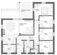 Bungalow Frankfurt 118qm Hems Winkelbungalow - Haus Grundriss